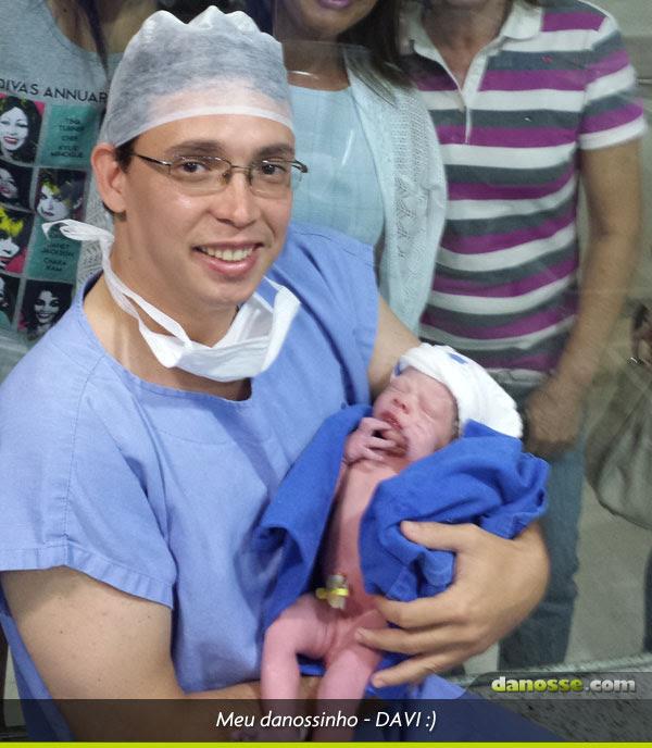 Meu Davi nasceu! :)