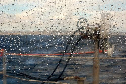 raining on the Catamaran