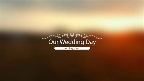 Our Wedding. Coming Soon   YouTube