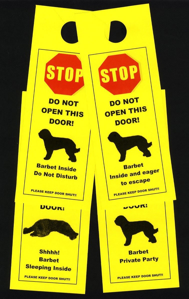 Barbet's Friendly Alternative to Beware of Dog signs