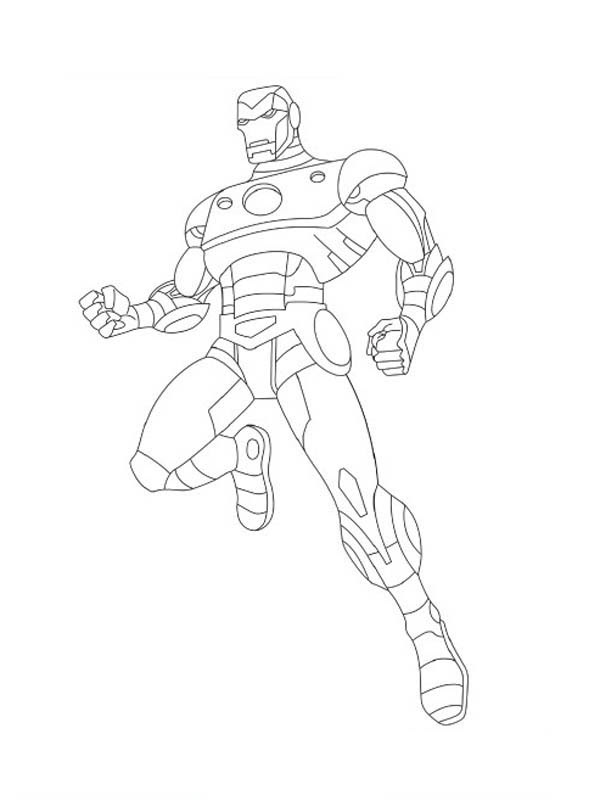 Iorn Man - Free Coloring Pages