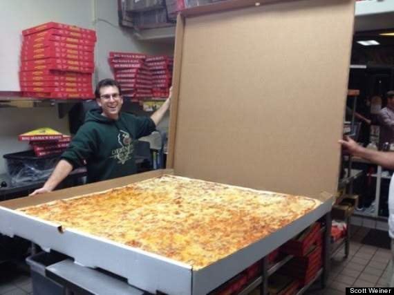 worlds largest delivery pizza