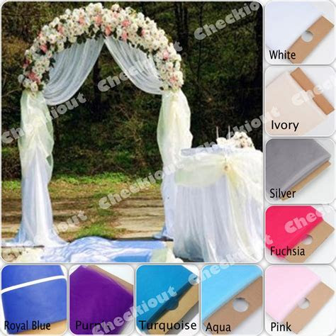 "90"" WHITE METAL ARCH   54""x40 Yards TULLE Wedding Party"
