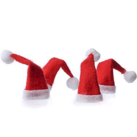 Miniature Felt Santa Hats   Doll Accessories   Doll Making