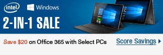 Intel, Windows: 2-in-1 Sale