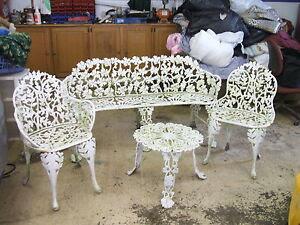 Vintage Wrought Iron Patio Furniture Set | eBay
