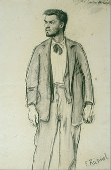 Santiago Rusiñol - Portrait of Carles Mani - Google Art Project.jpg