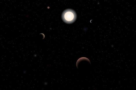 Recreación del sistema planetario de Tau Ceti. | J. Pinfield