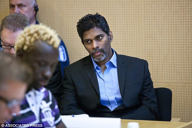 Fixer: Singaporean Wilson Maj Perumal, pictured on trial in Rovaniemi, Finland, in 2011, claims that he figged around 100 football matches and made £3million