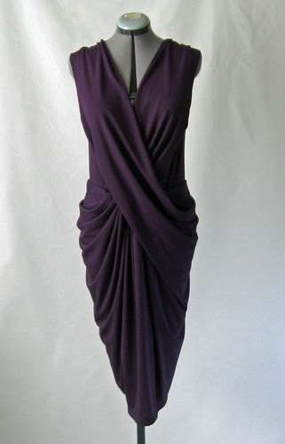 Purple drape dress front2