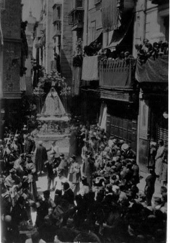 Coronación de la Virgen del Sagrario el 30 de mayo de 1926. Foto Rodríguez. Archivo Provincial de Toledo. Junta de Comunidades de Castilla-La Mancha