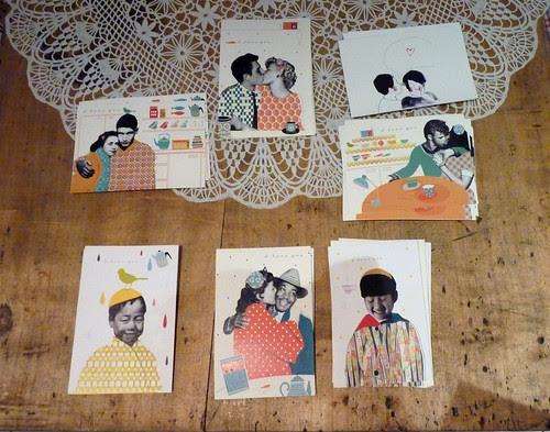 """Exhibition """"Iloveyou"""" At De Fil en Cafè in Montreuil by la casa a pois"""