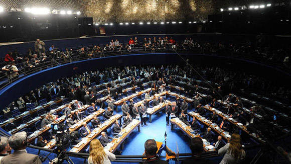Senado de Brasil Foto: Tomada de cambioweb.com (Archivo)