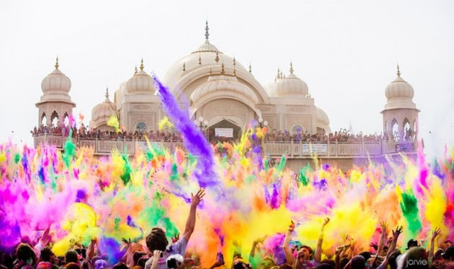 holi by Parker Walbeck Holi slow motion close up with mosque - saved by Chic n Cheap Living