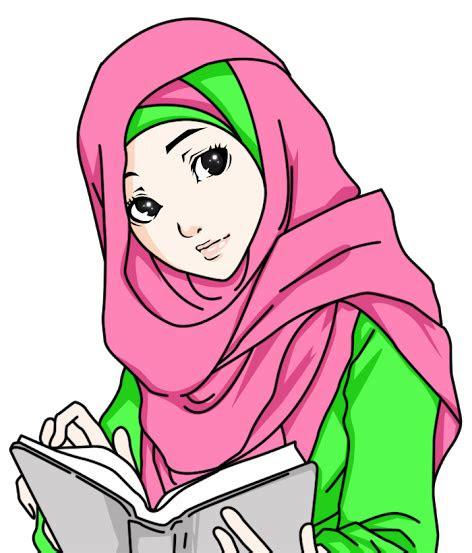 gambar kartun muslimah salehah terbaru gaul