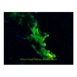 Witch Head Nebula deep space astronomy image Post Card