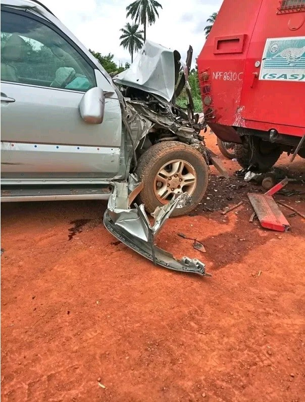 THE VOICE AND HAND THAT SPIRITUALLY SAVED THE LAGOS COMMISSIONER IN AN AUTO CRASH TODAY