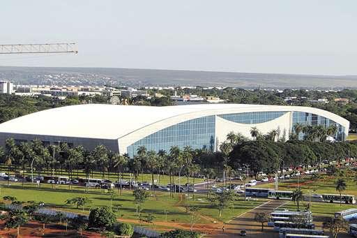 O Centro de Convenções é um dos locais que mais recebe eventos em Brasília: cada congresso científico atrai pelo menos 3 mil visitantes (Aline Bravim/CB/D.A Press)