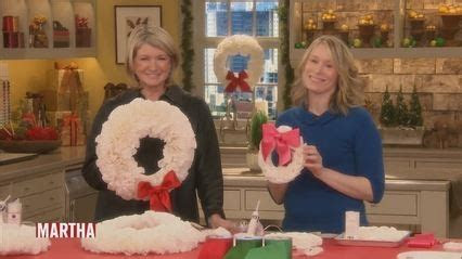 Coffee Filter Wreaths with Lenore Welby Video   Martha Stewart