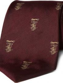 E. Tautz Woven Silk Monogram Tie