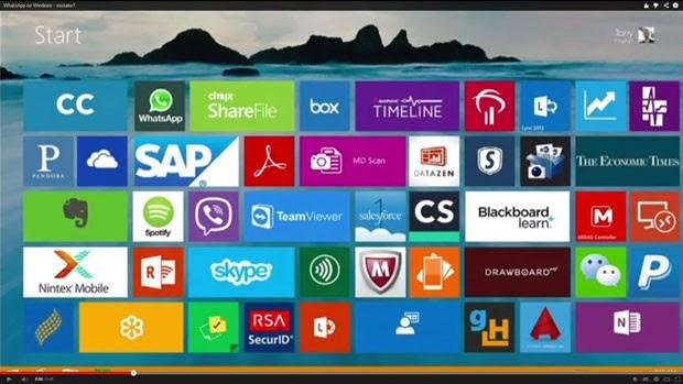 Microsoft mostra ícone do WhatsApp em Windows 8 durante apresentação