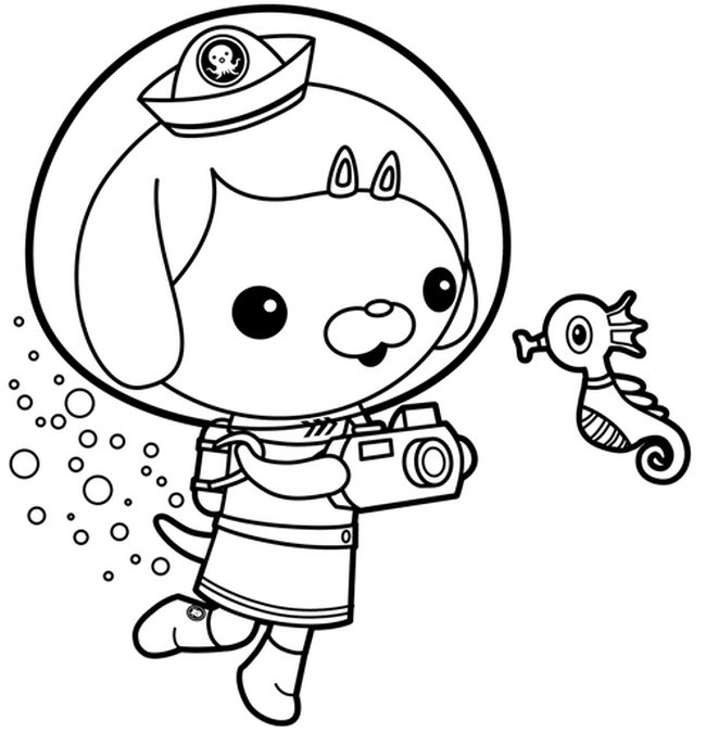 Sauci Octonauts Coloring Pages