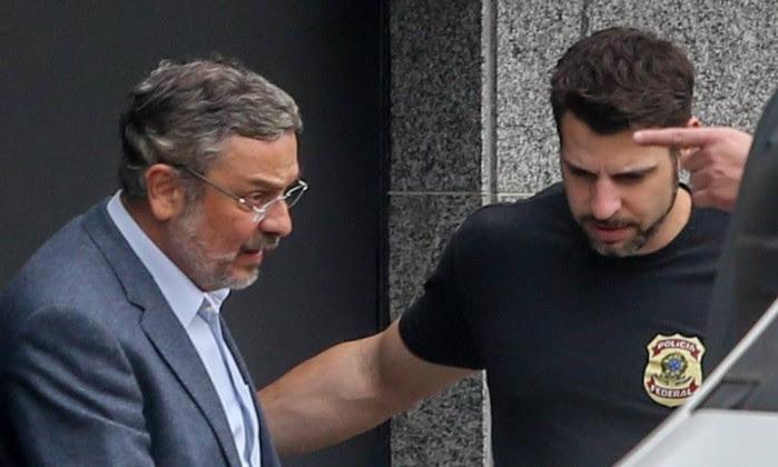 Antonio Palocci preso pela Polícia Federal
