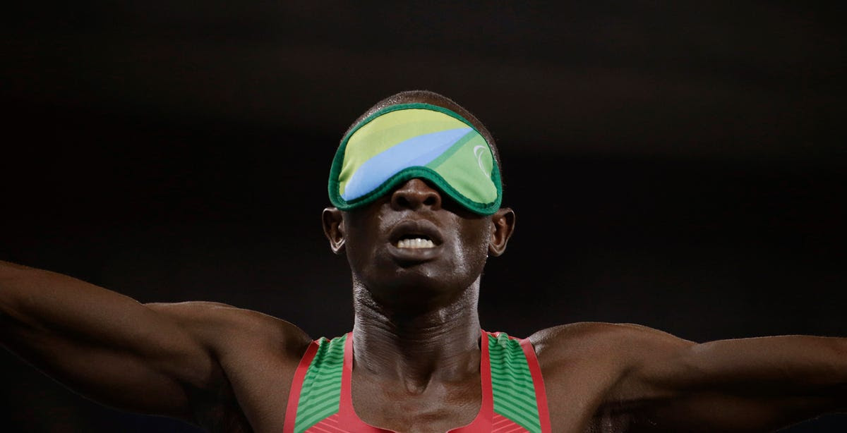 Samwel Mushai Kimani of Kenya wins the gold medal in the 1,500 meters.