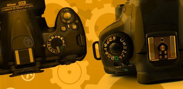 Câmeras DSLR configuradas no modo manual (Foto: Reprodução)