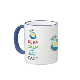 Keep Calm and Eat Cake zazzle_mug