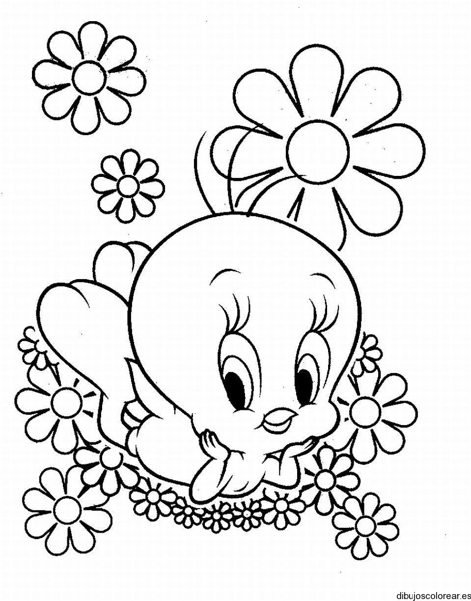 Dibujo De Piolín Entre Las Flores