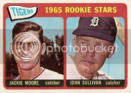 #593 Tigers Rookies: Jackie Moore and John Sullivan