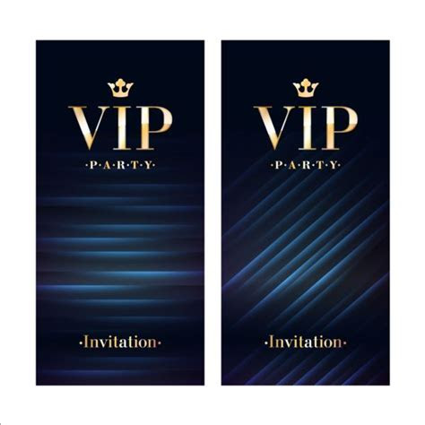 Luxury VIP invitation cards template vector 03 free download