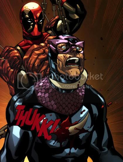 Deadpool vs Gavião Arqueiro Sombrio