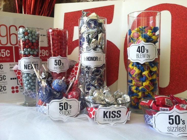 40th Birthday Ideas 50th Gift Candy