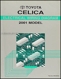 2001 Toyota Celica Wiring Diagram Manual Original