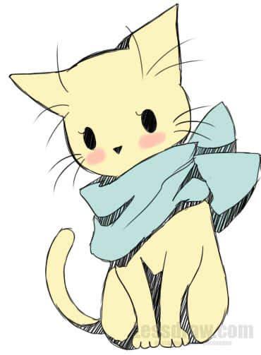 draw anime cat easy lessdraw