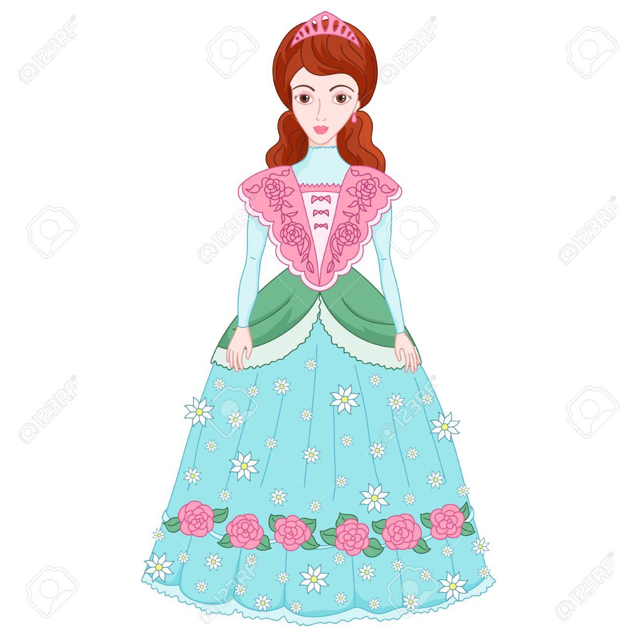 かわいい お姫様 ドレス イラスト
