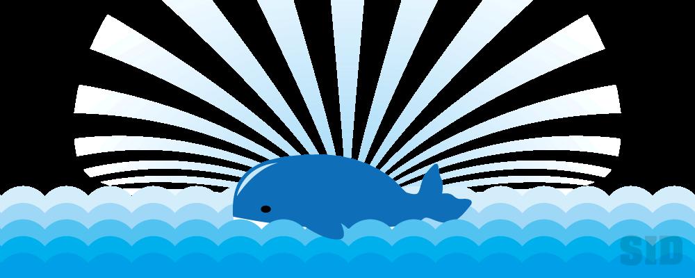 海に浮かぶクジラのイラスト 無料配布南国イラスト Ai Epsイラレ