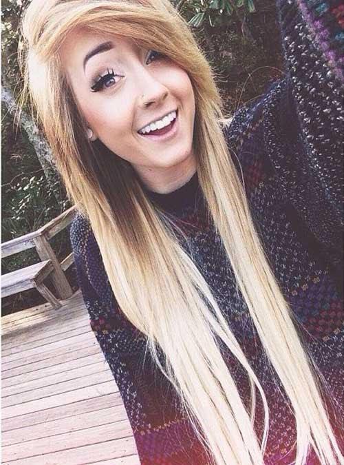 Long Blonde Hair Highlights Hairstyles 10 Cute Long Emo