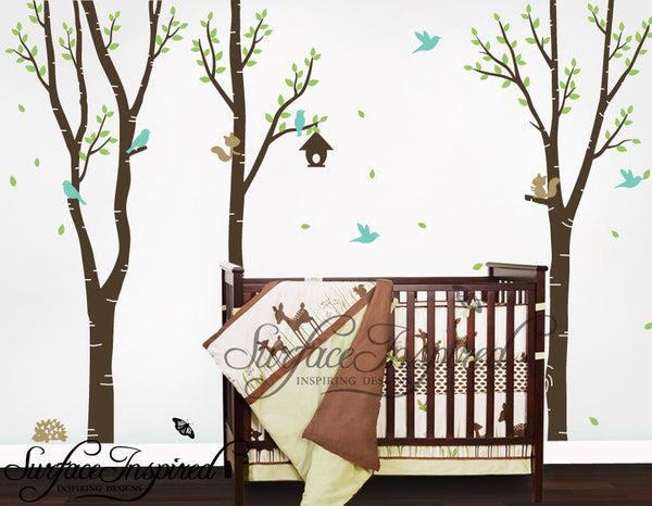 Nursery Wall Decals Baby Birch Tree Vinyl Wall Decals | Surface ...