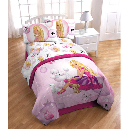 Barbie Bubbles Twin Bed Sheet Set 3Pink Cameo Sheets Twin Single ...
