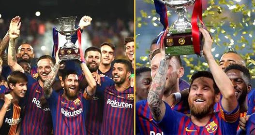 Football Superstar Lionel Messi Wins His 33rd Title As Barcelona Wins Spanish Super Cup