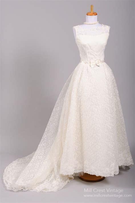 1960's Audrey Hepburn Lace Vintage Wedding Gown http://www