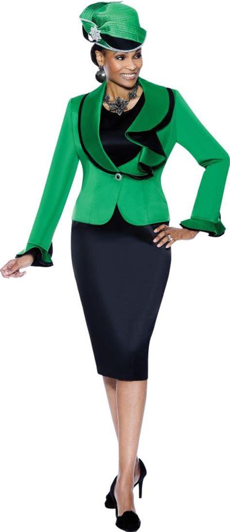 terramina  womens emerald green church suit french