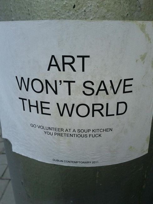 Art Wont Save The World Funny