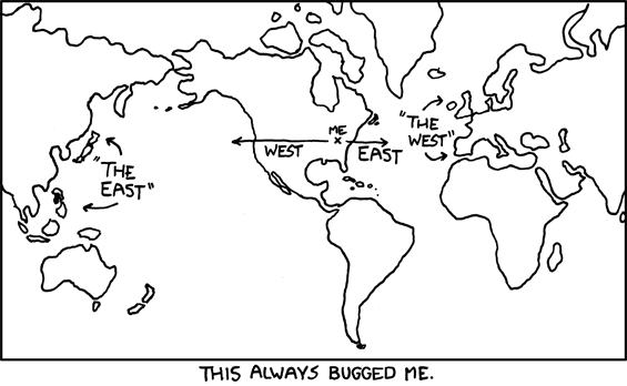 map of the world from xkcd
