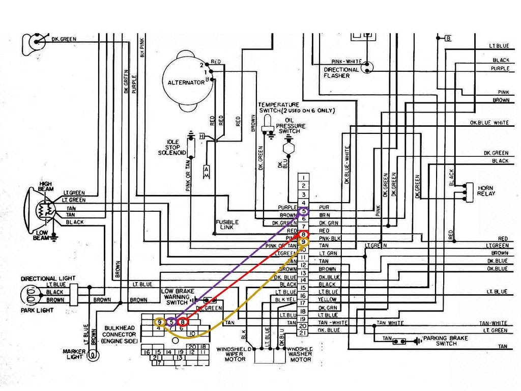 1976 Wiring Diagram, Bulkhead Connector labels... which is ...