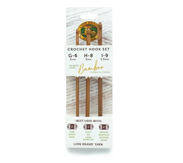 Lion Brand® Bamboo Crochet Hooks (Set of 3)