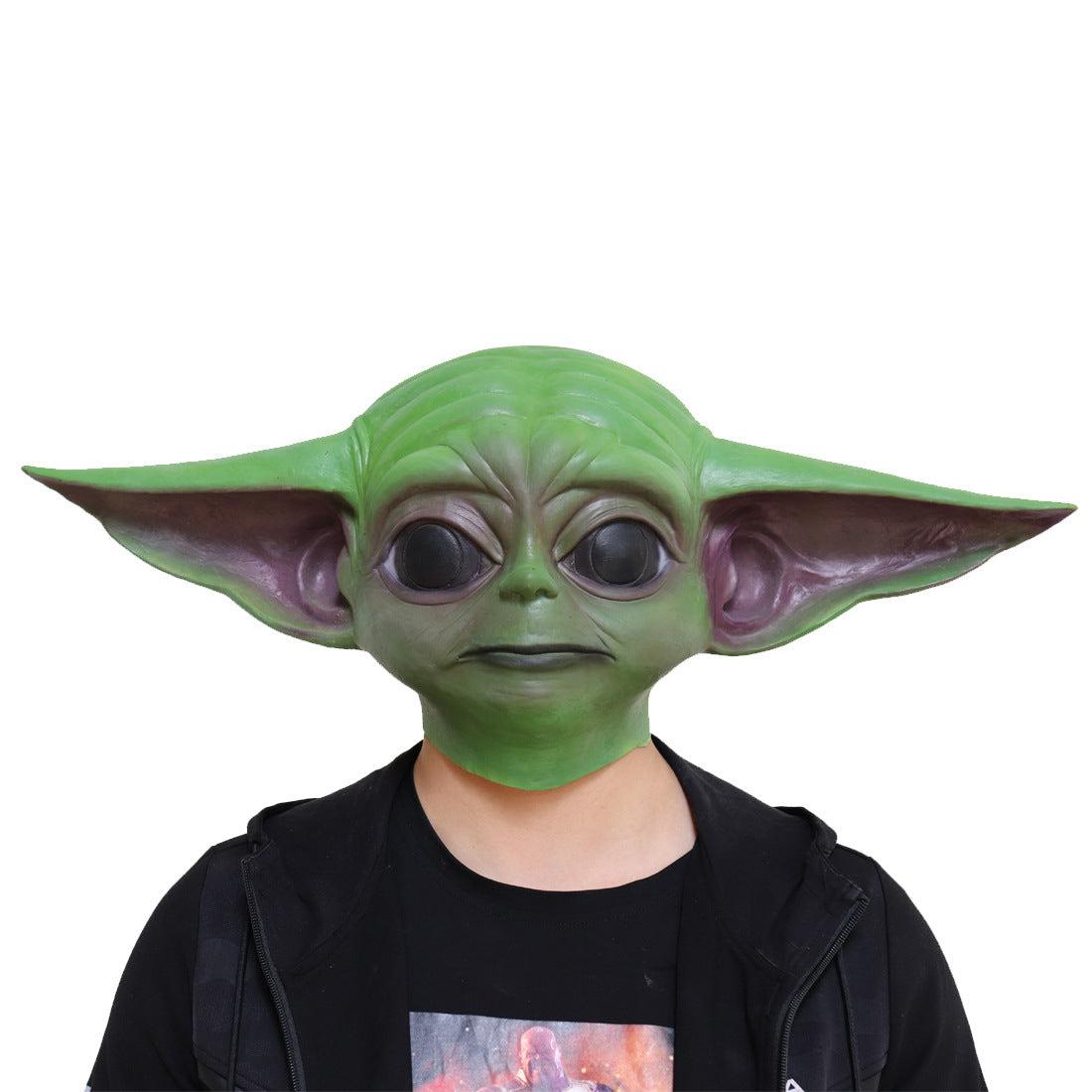 Star Wars Movie Yoda Jedi Master Latex Head Mask Cosplay Halloween Props Aliens